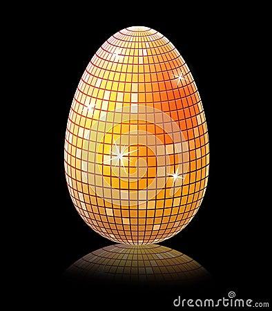 Golden shiny egg