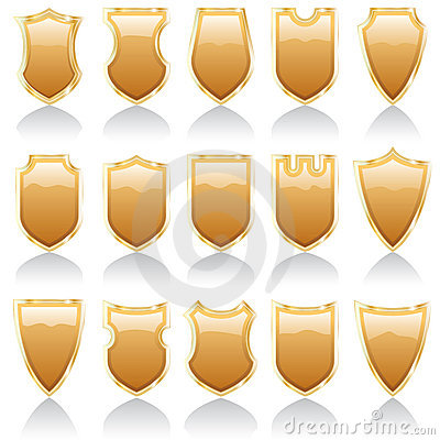 Golden shiny shields