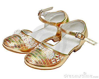 Golden shoes for girl