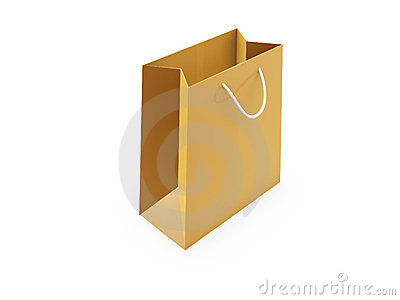 Golden shopping bag