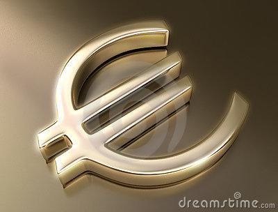 Golden Sign Euro