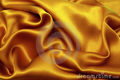 Golden silk textile
