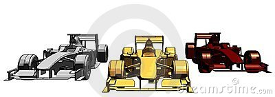 Golden Silver Bronze Race Car Vector 11