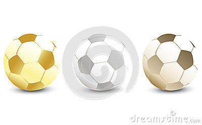 Golden, Silver and Bronze Soccer Ball