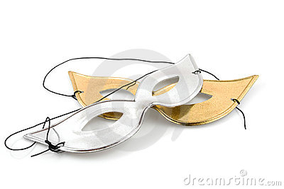 Golden and silver party mask