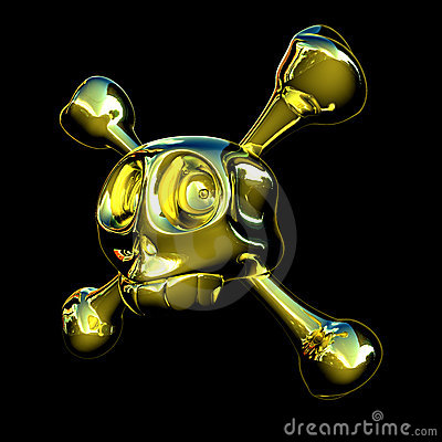 Golden Skull Stock Photo - Image: 1016290