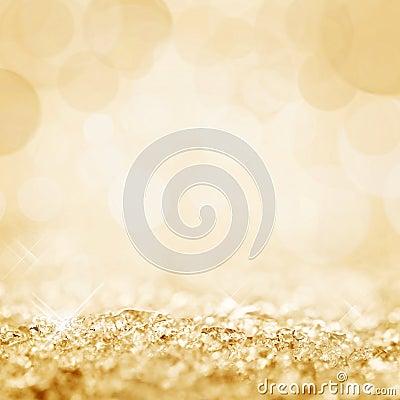 Free Golden Snow And Bokeh Stock Photo - 49294530