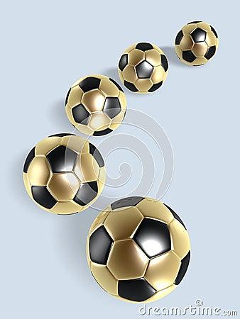 Golden soccer balls