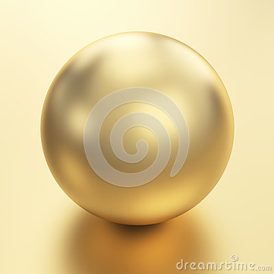 Golden sphere render