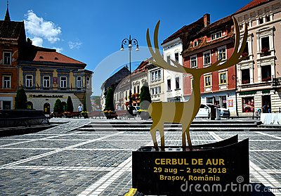 Golden stag international pop music festival at Brasov Romania Cerbul de Aur Editorial Stock Photo
