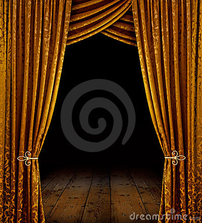 Free Golden Stage Stock Image - 14216721