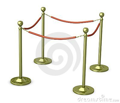 Golden stand barriers