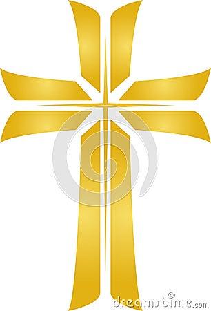 Free Golden Star Cross/eps Royalty Free Stock Image - 5575636