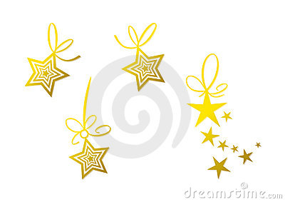 Golden star decoration (set)
