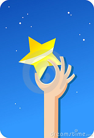 Free Golden Star From Sky | Concepts Series Royalty Free Stock Photo - 9803475