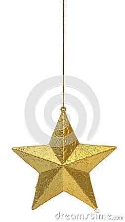 Golden star hanging
