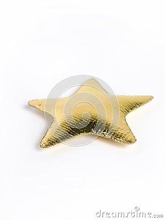 Golden star pillow