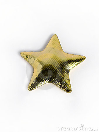 Golden star pillow