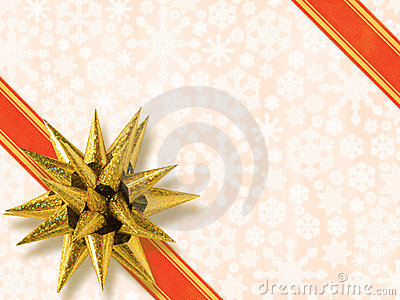 Golden Star-Shaped Bow