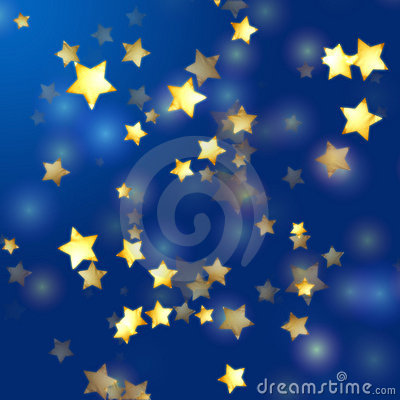 Free Golden Stars In Blue Stock Photos - 7445983