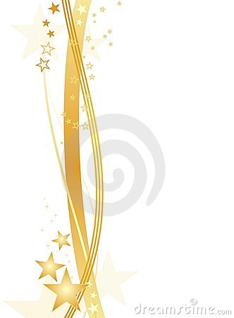 Free Golden Stars On White, Border Royalty Free Stock Photo - 11988765