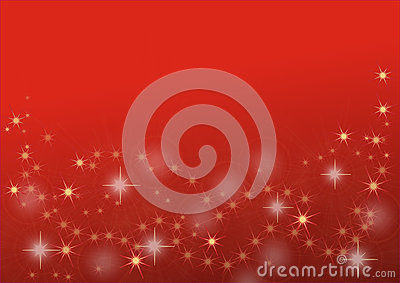 Golden stars on red background