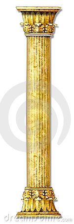 Golden stone column