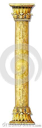 Golden stone column