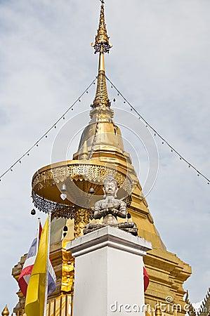 Golden stupa at Doi Kham