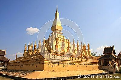 Golden Stupa in Vientiane - Lao