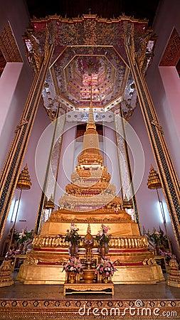 Golden stupa at Wat Mahathat in Bangkok, Thailand