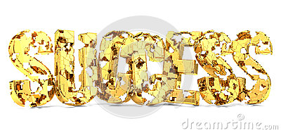 Golden success missing pieces 3d Stock Photo