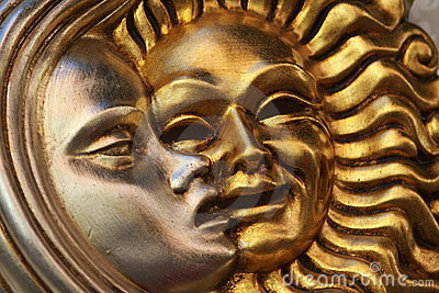 Golden sun silver moon mask