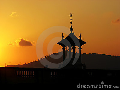 Golden sunset and cupola