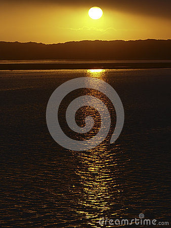 Free Golden Sunset In Morro Bay, CA Stock Images - 45009934