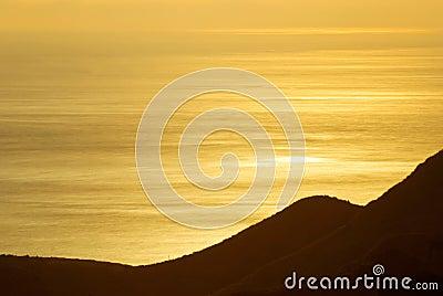 Golden sunshine on the sea