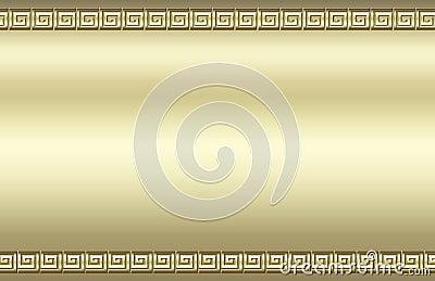 Golden swirl border