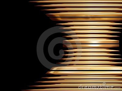 Golden swirl object