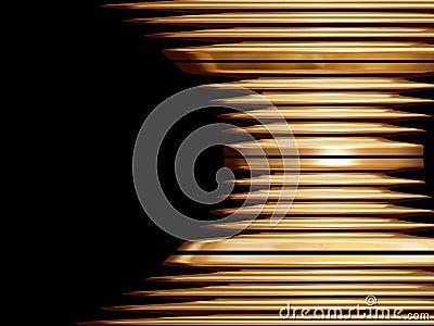 Golden swirl object