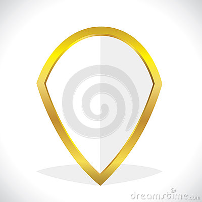 Golden symbol stock vector
