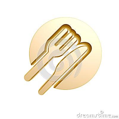 Golden tableware