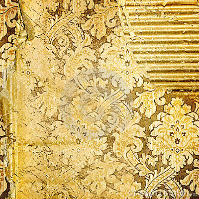 Golden tattered background