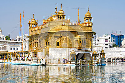 Golden Temple in Amritsar, Punjab, India. Editorial Photo