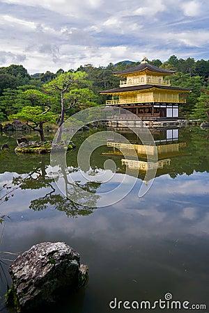 Golden temple in Japan