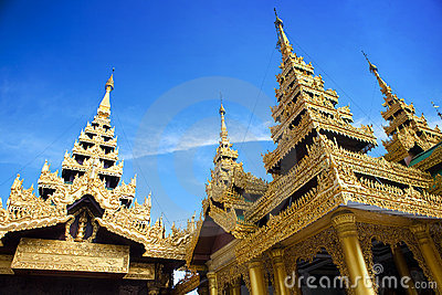 Golden temple of Shwedagon Pagoda, Yangon, Myanmar