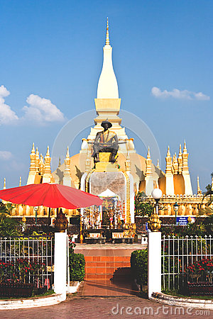 Golden temple in Vientiane Laos