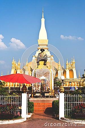 Golden temple in Vientiane Laos