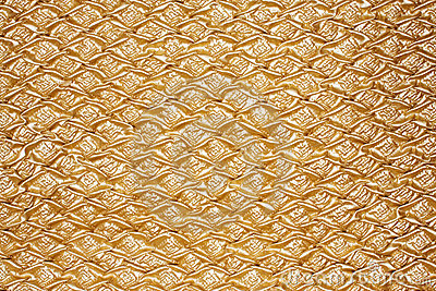 Golden textured oilcloth or leather