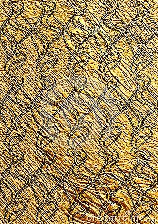 Golden textured seamless wallpaper