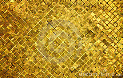 Golden tiles background